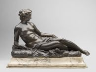 Reclining Nymph with Small Dog