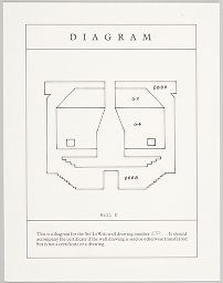 Diagram, Wall B Of Wall Drawing #830 (Four Isometric Figures With Color Ink Washes Superimposed)