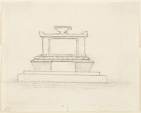 Design For The Monument Of William Ellery Channing,  Mount  Auburn Cemetery