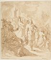 David With The Head Of Goliath; Verso: Sketch In Black Chalk