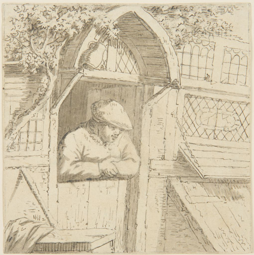 Peasant Leaning On His Doorway, Copy After Adriaen Van Ostade