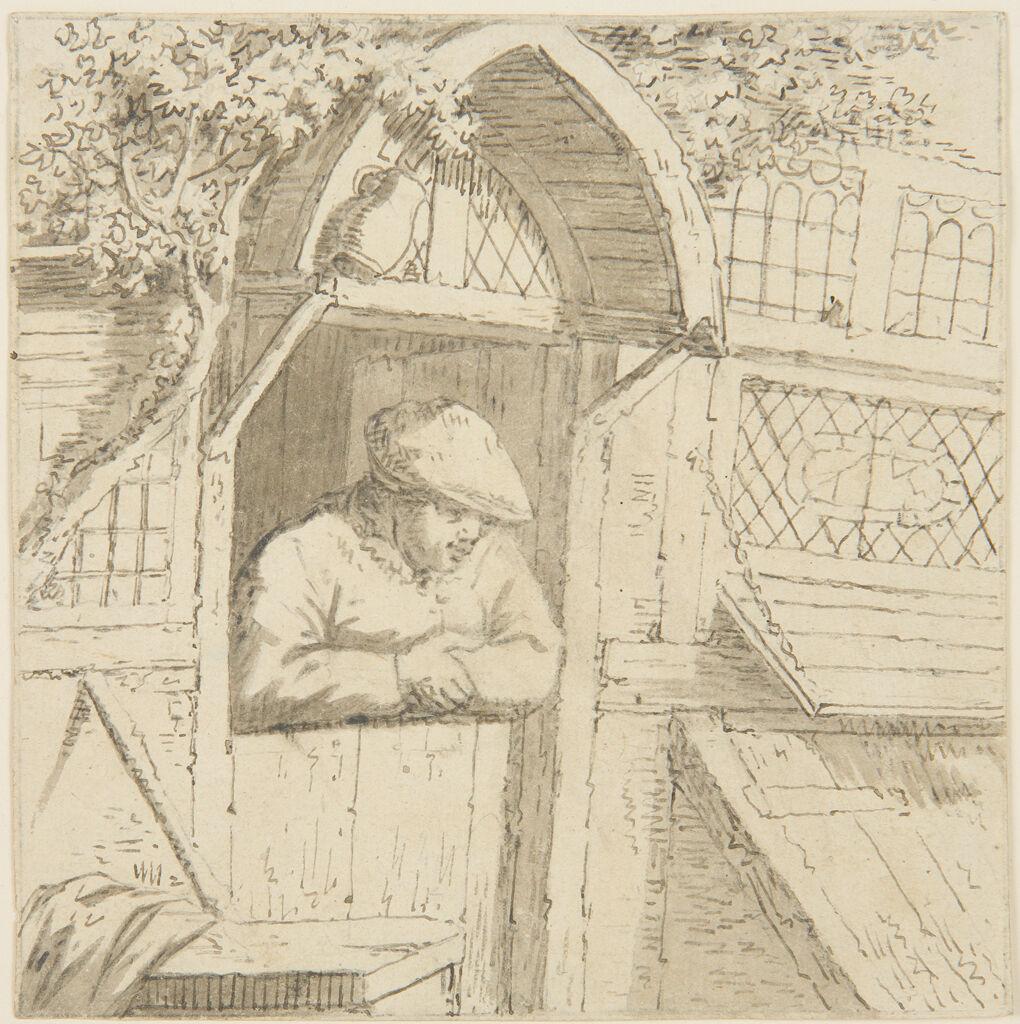 Peasant Leaning On His Doorway, Copy After Adriaen Van Ostade