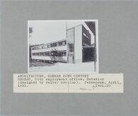Municipal Employment Office, Dessau, 1927-1929