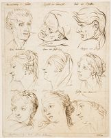 Studies Of Heads, After Charles Le Brun