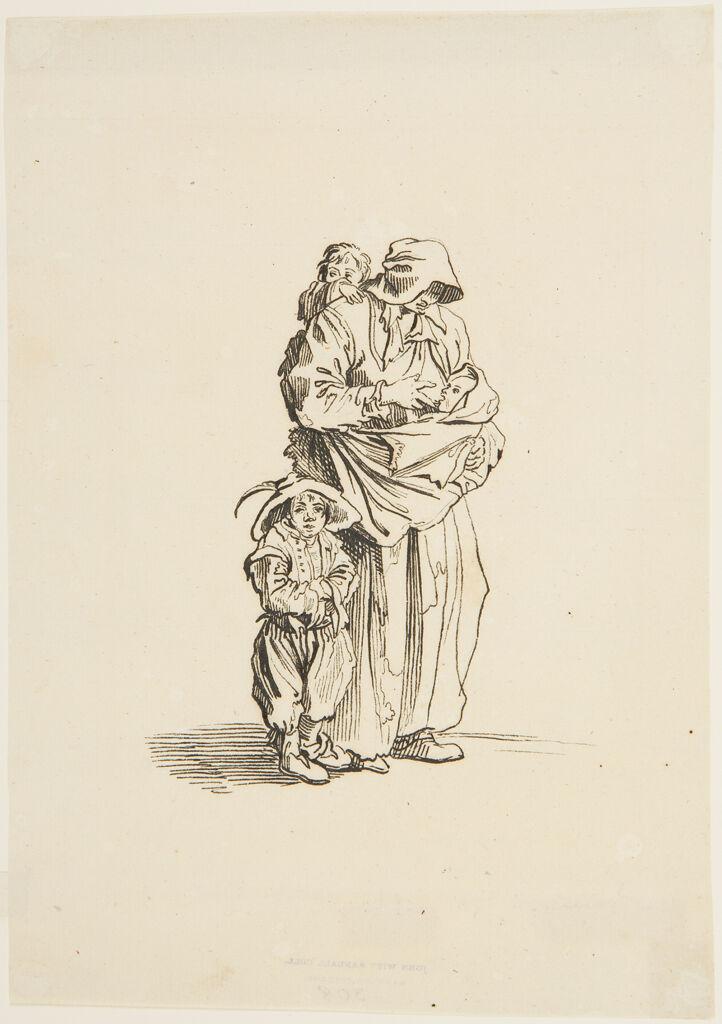 Beggar Woman With Her Three Children, After Callot