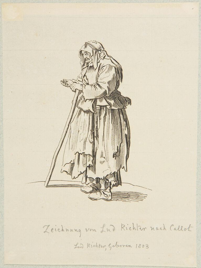 Beggar Woman Receiving Charity, After Callot