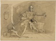 Ugolino and His Sons; verso: Sketch of a Male Figure