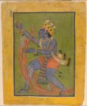Krishna Swallows the Forest Fire, Folio from a Bhagavata Purana (History of God) series
