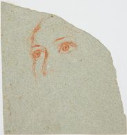 Features of a Woman Gazing Upward, Study for