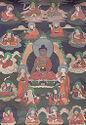 Seated Buddha With Eighteen Arhats