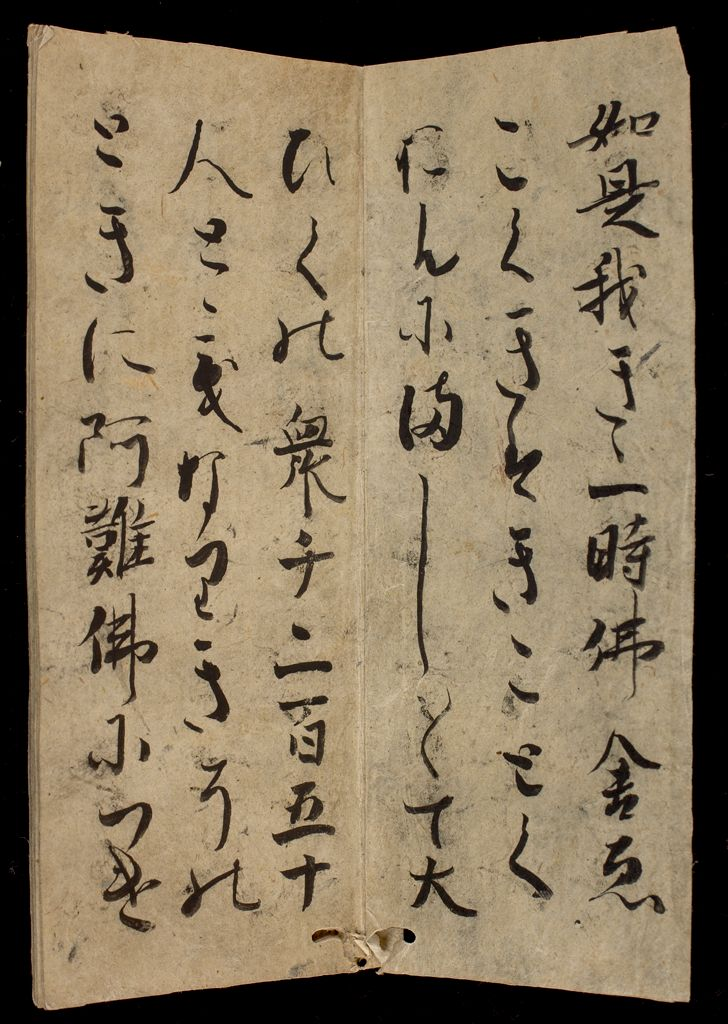 Non-Canonical Sutra Booklet Without Title Page (Beginning Of Text Reads