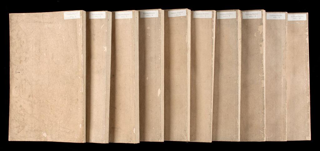 Printed Lotus Sutra (Hokke-Kyō), 10 Volumes