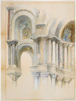 Part Of A Sketch Of The Northwest Porch Of St. Mark's