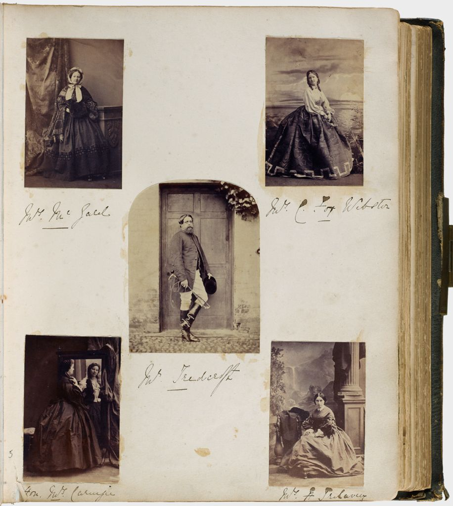 Untitled (Five Photographs, Clockwise From Upper Left, Mrs. Mcgald; Mrs. C. Fox Webster; Mrs. H. Trelawny; Hon. Mrs. Carnegie; Center, Mr. Teedcroft)