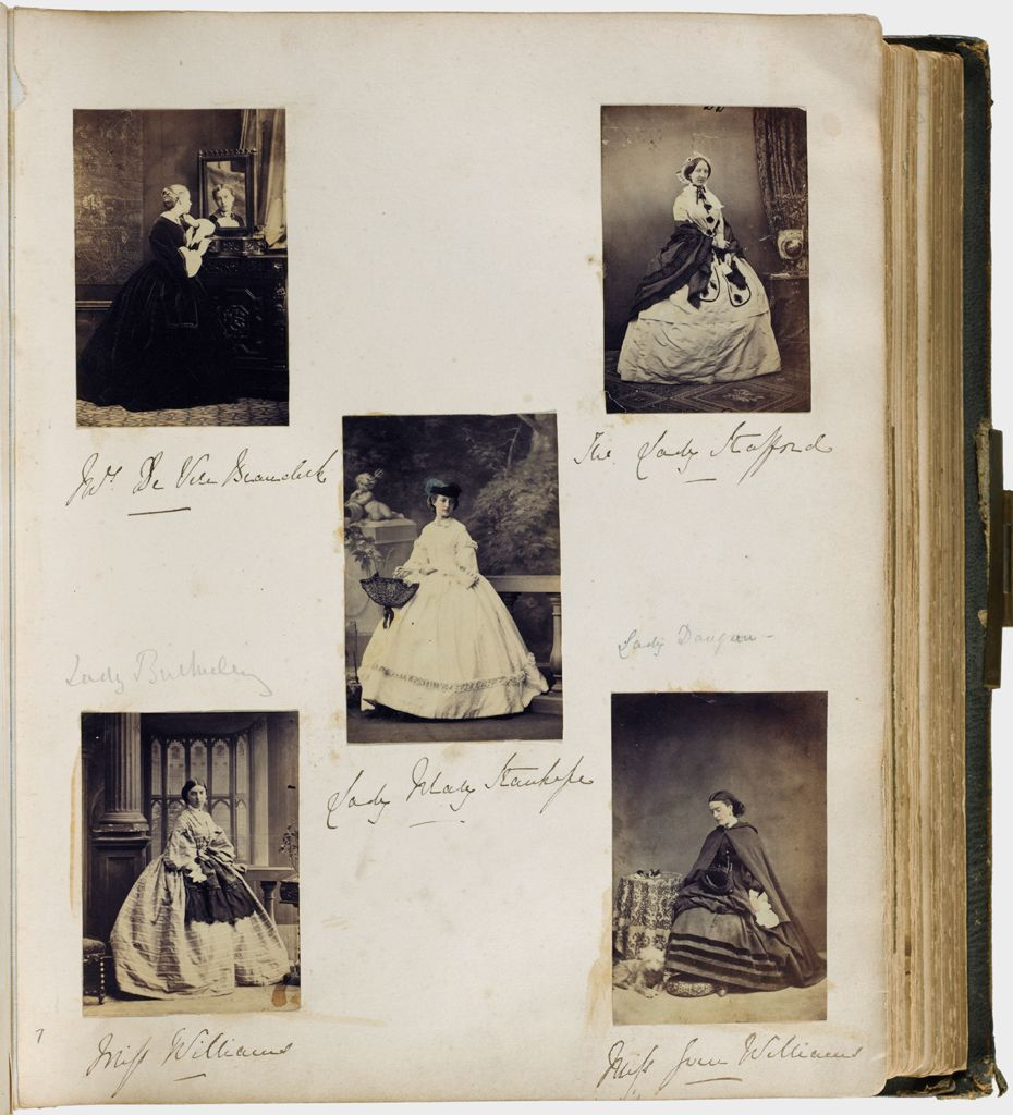 Untitled (Five Photographs, Clockwise From Top Left, Mrs. De Vere Beauclerk; The Lady Stafford; Miss Joan Williams; Miss Williams; Center, Lady Mary Stanhope)