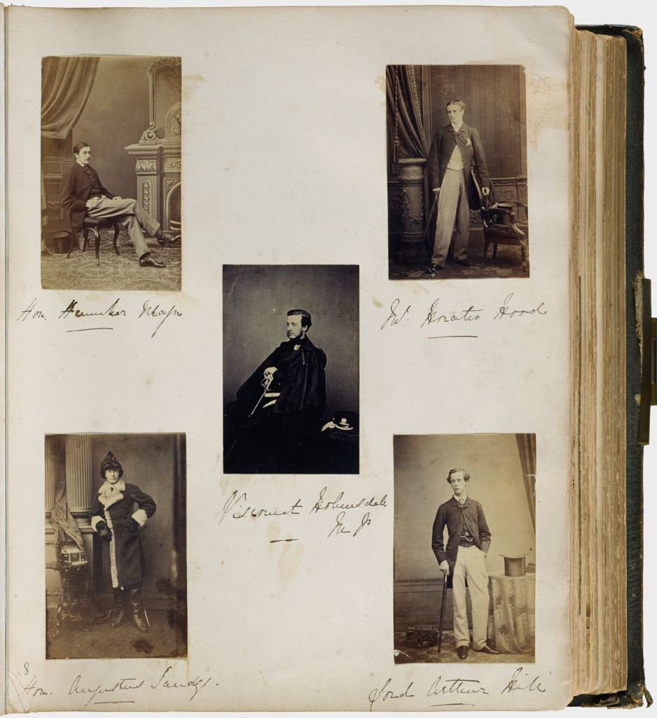 Untitled (Five Photographs, Clockwise From Top Left, Hon. Henniker Major; Horatio Hood; Lord Arthur Hill; Hon. Augustus Sandys; Center, Viscount Holmesdale)
