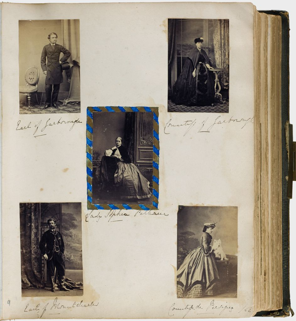 Untitled (Five Photographs, Clockwise From Top Left,  Charles Anderson-Pelham, 3Rd Earl Of Yarborough; Countess Of Yarborough; Countess De Piersjoy (With Dog); Earl Of Mountcharles; Center, Lady Sophia Pelham)