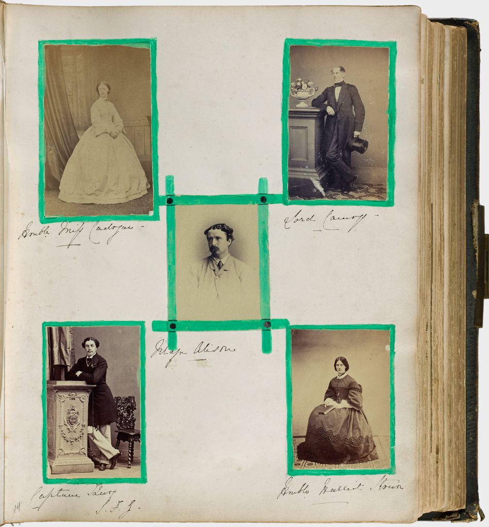 Untitled (Five Photographs, Clockwise From Upper Left, Honorable Miss Cadogan; Lord Camoys; Honorable Harriet Stonor; Captain (?); Center, Major Alison)