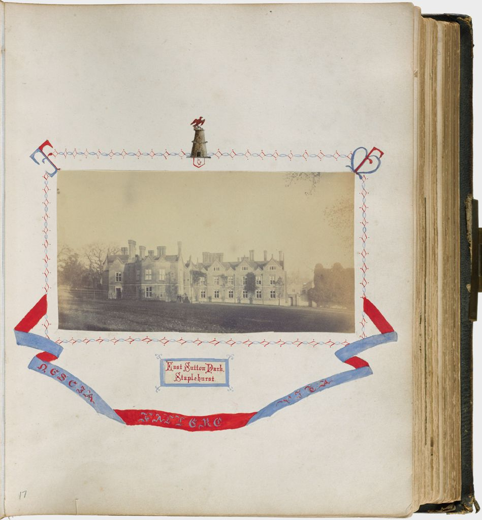 Untitled (View Of East Sutton Park, Staplehurst, Filmer Family Seat With Painted Family Crest And Motto)