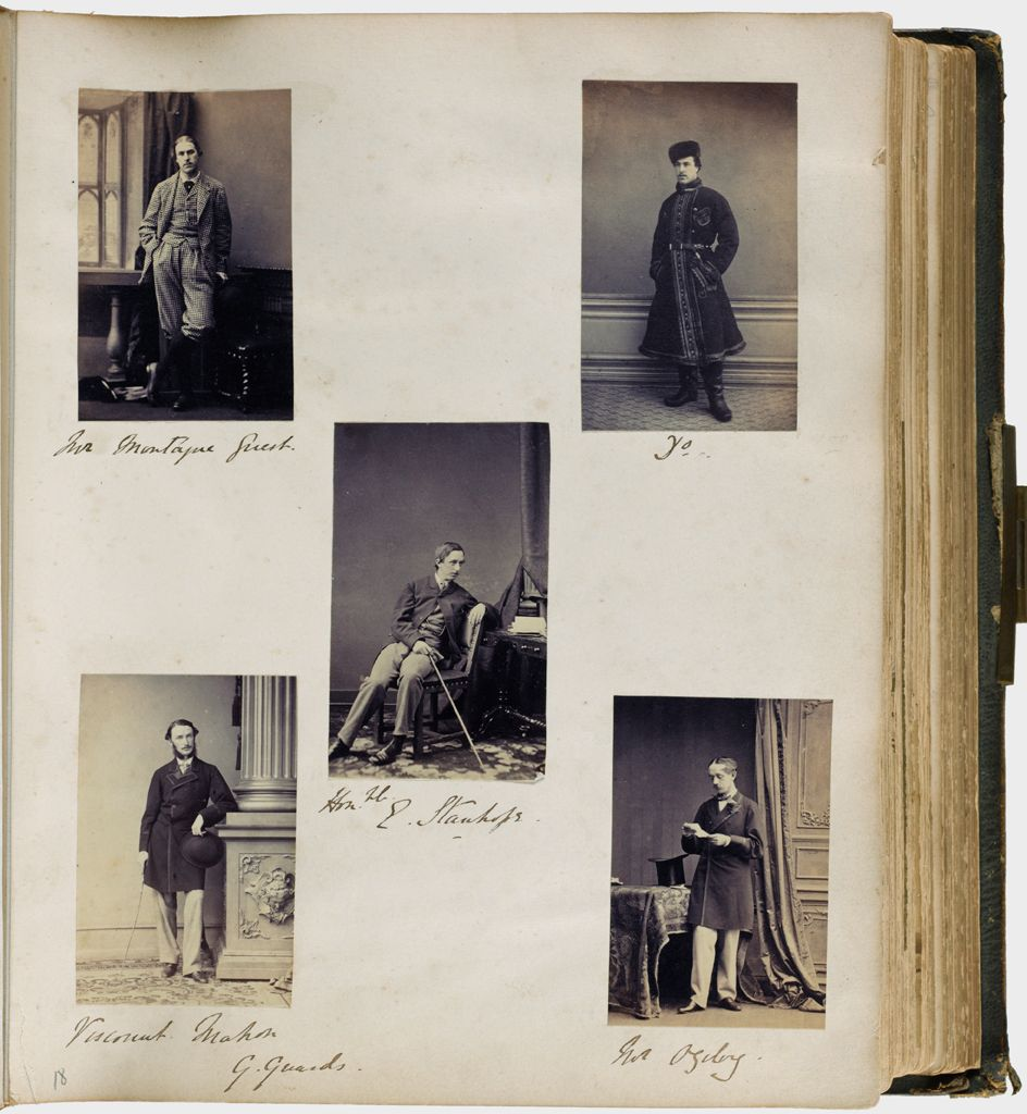 Untitled (Five Photographs, Clockwise From Top Left, Mr. Montague Guest (Top Left And Top Right Photographs); Mr. Ogilvy; Viscount Mahon; Center, Honorable Edward Stanhope)