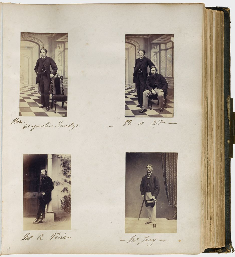 Untitled (Four Photographs, Clockwise From Upper Left, Honorable Augustus Sandys (1840-1904); Augustus Sandys With Sir Edmund Filmer (1835-1886); Mr. Jury; Mr. A. Vivian)
