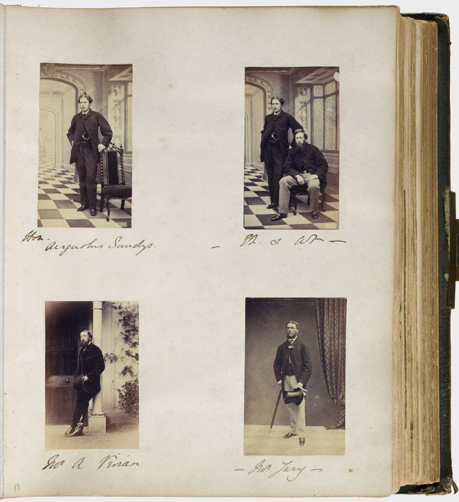 Untitled (Four Photographs, Clockwise From Upper Left, Honorable Augustus Sandys (1840-1904); Augustus Sandys With Sir Edmund Filmer (1835-1886); Mr. Jury; Mr. A. Vivian)