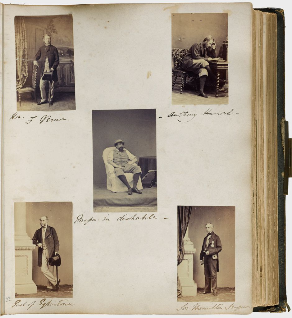Untitled (Five Photographs, Clockwise From Upper Left, Mr. F. Vernon; Anthony Hamond; Sir Hamilton (?); Earl Of Eglinton; In Center