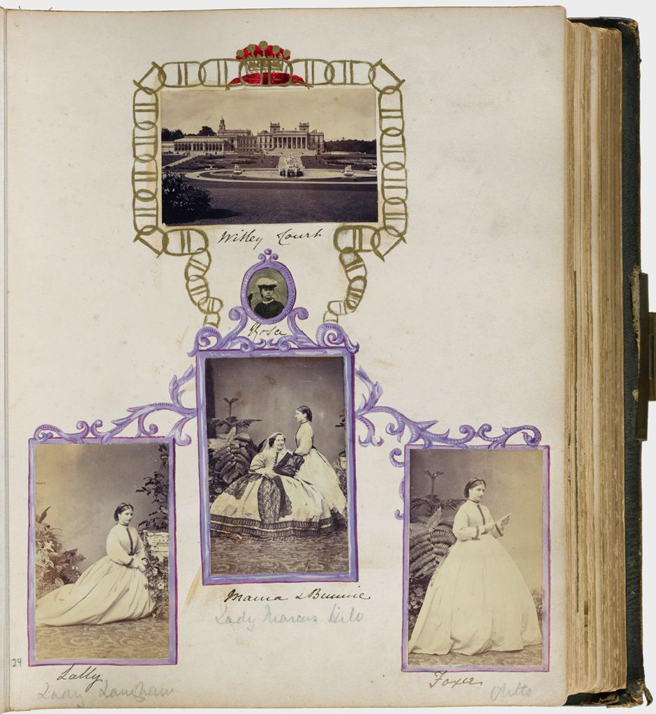 Untitled (Five Photographs, Top, Witley Court; Oval In Center, Rosa; Bottom Left, Sally; Center, Mama And Bunnie; Bottom Right, Foxie)