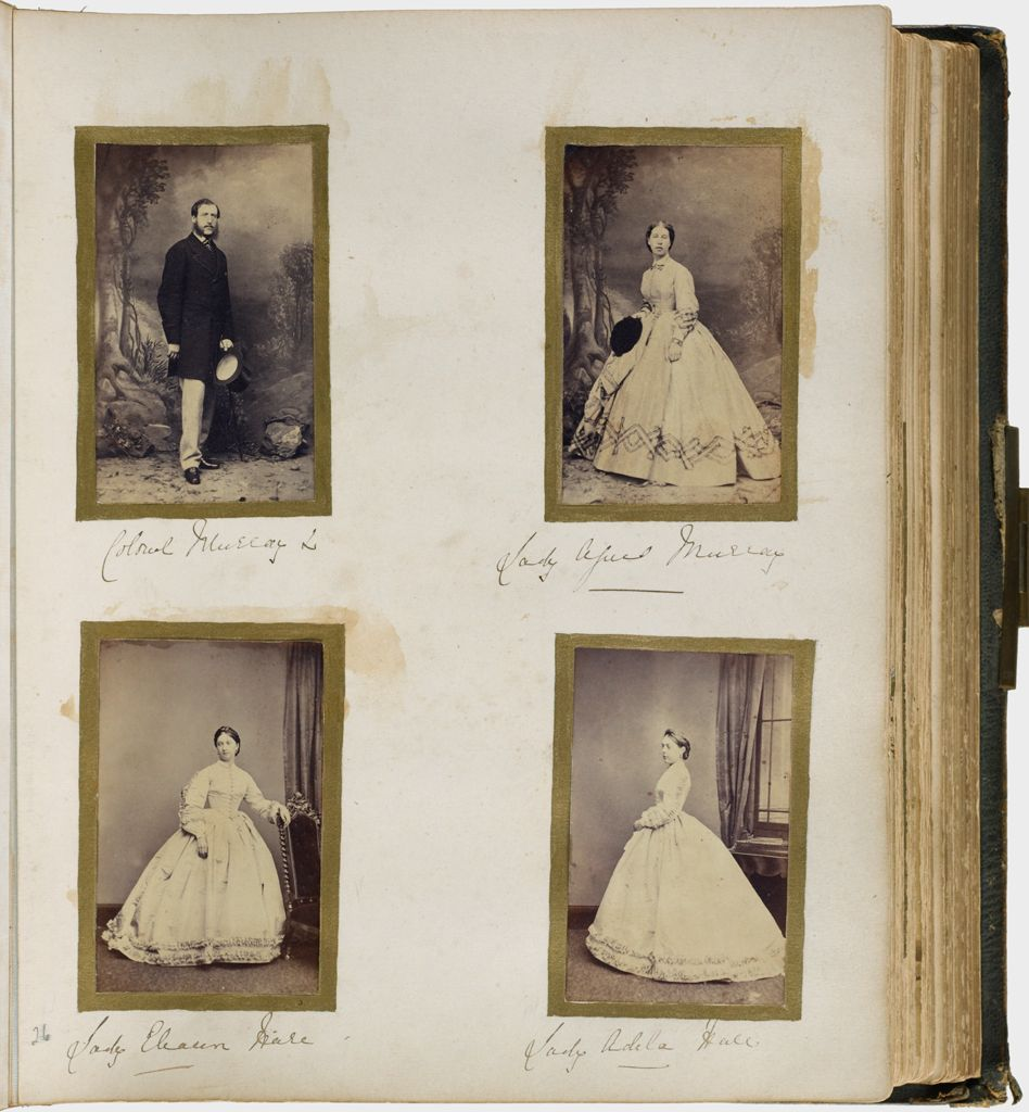 Untitled (Four Photographs, Clockwise From Upper Left, Colonel Murray; Lady Agnes(?) Murray, Lady Adela Hall Or Hale; Lady Eleanor Hall Or Hale)