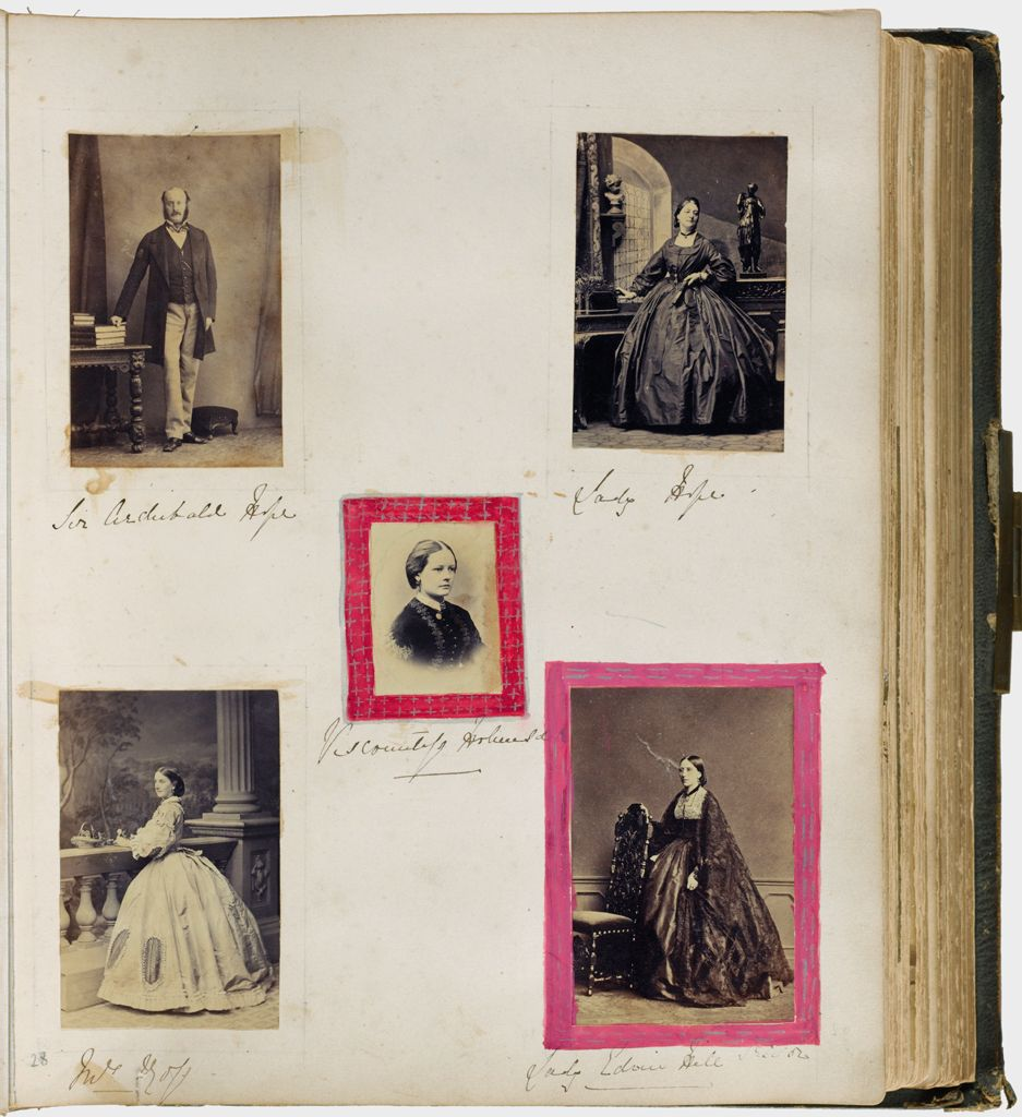 Untitled (Five Photographs, Clockwise From Upper Left, Sir Archibald Hope; Lady Hope; Lady Edwin Hill; Mrs. Goff; Center, Viscountess Holmesdale)