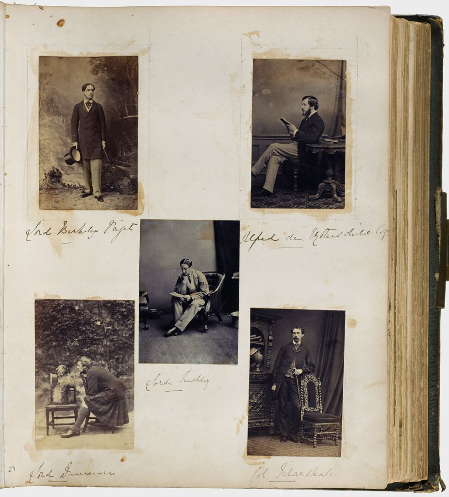 Untitled (Five Photographs, Clockwise From Upper Left, Lord Berkeley Paget; Alfred De Rothschild; Col. Marshall; Lord Dunmore (With Dog); Center, Lord Sudeley)