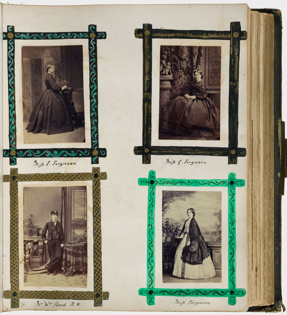 Untitled (Four Photographs, Clockwise From Upper Left, Miss E. Ferguson; Miss G. Ferguson; Miss Ferguson; Mr. Wm Hood R.n.)