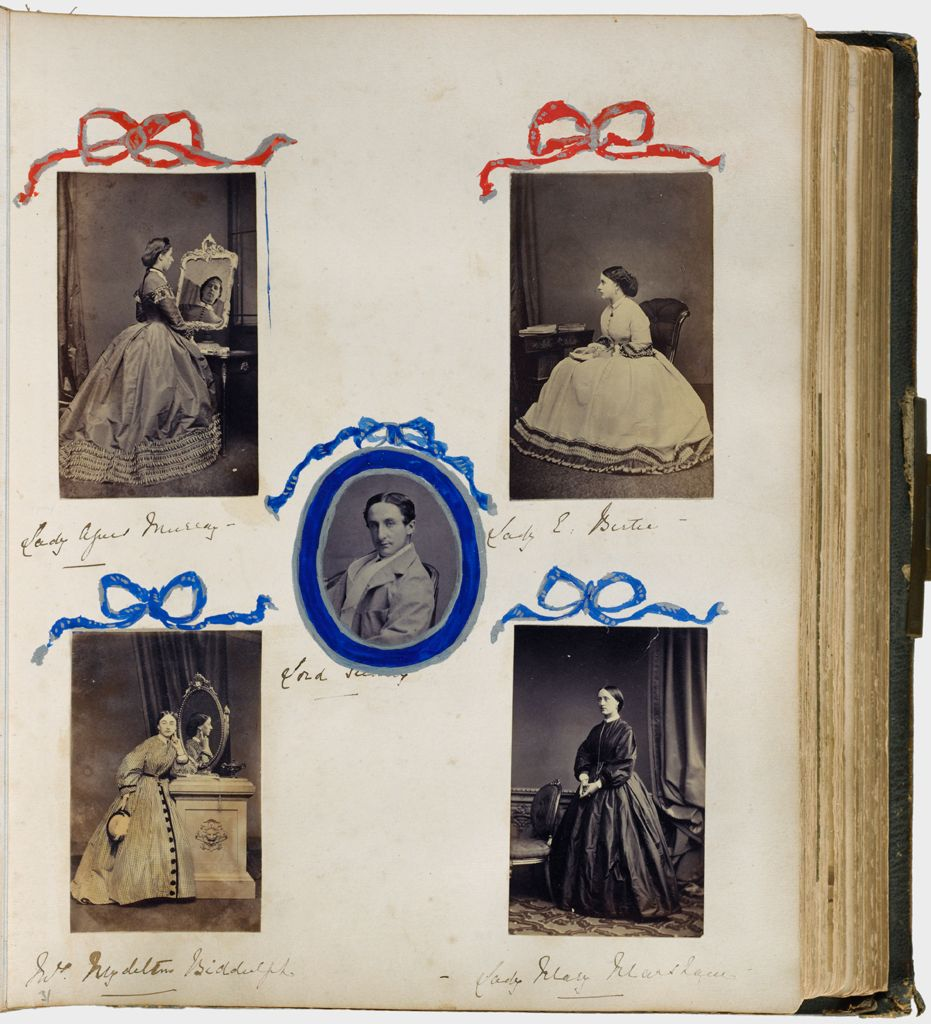 Untitled (Five Photographs, Clockwise From Upper Left, Lady Alfred Murray; Lady E. Bute; Lady Mary Marsham; Mrs. Mydelton Biddulph; Center, Lord Sudeley)