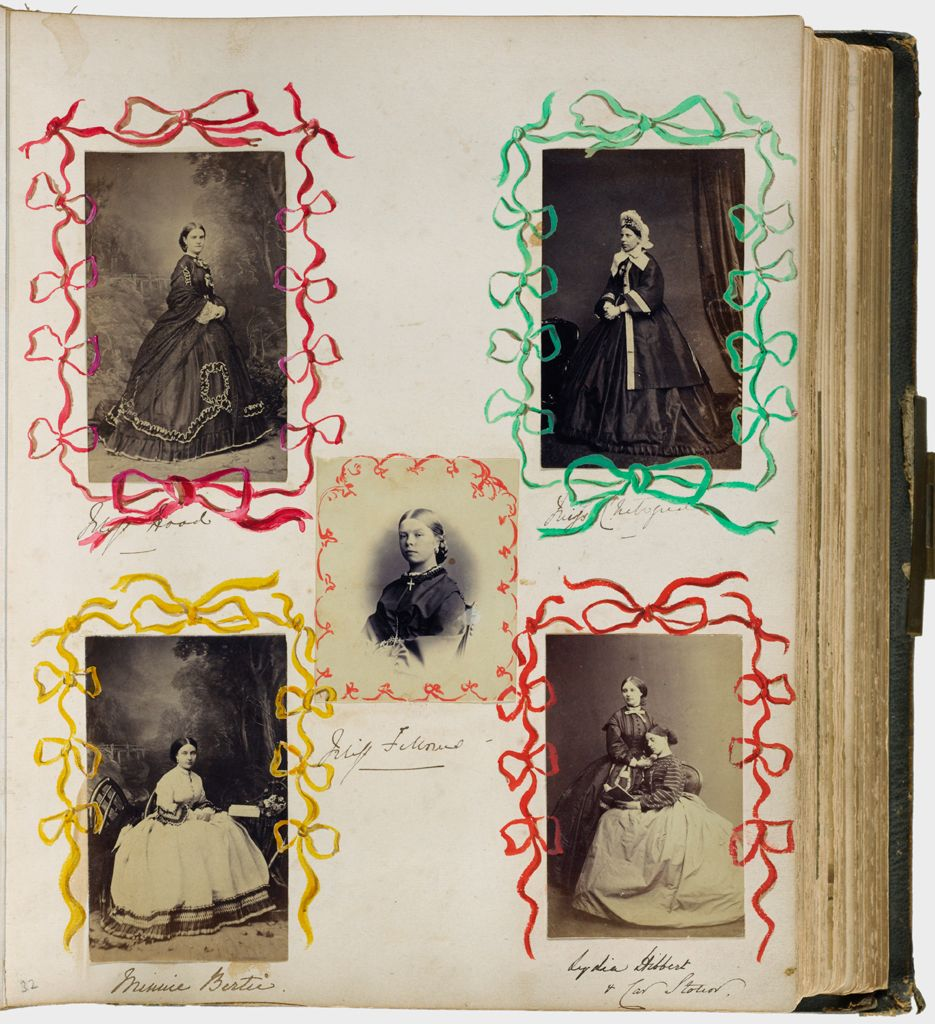 Untitled (Five Photographs, Clockwise From Upper Left, Miss Hood; Miss Chetwynd; Lydia Hibbert And Catherine Stonor; Minnie Bertie; Center, Miss Fellows)