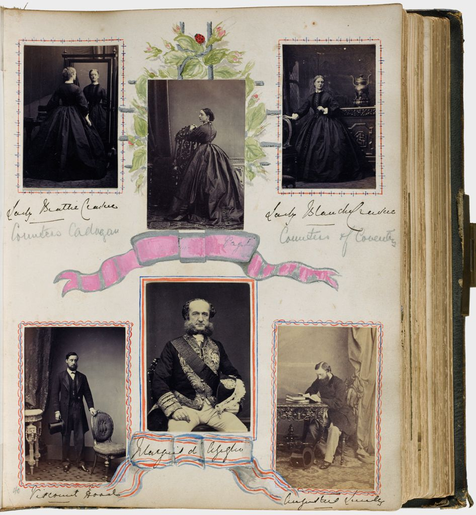 Untitled (Six Photographs, Clockwise From Upper Left, Lady Beattie Craven; Lady (?) Paget; Lady Blanche Craven; Augustus Sandys, Marquis (?); Viscount Hood)