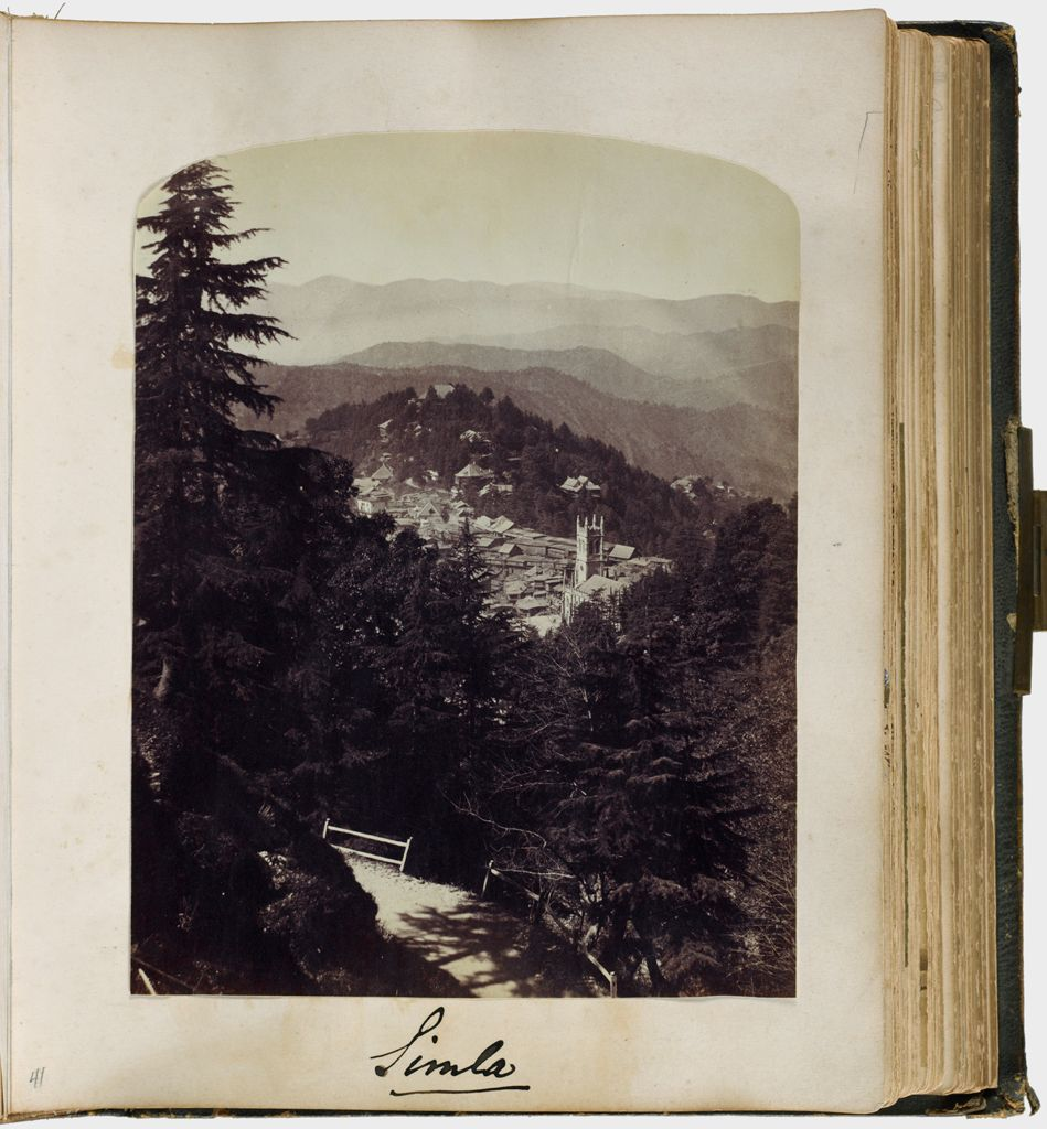 Untitled (Simla, View From Above, Christchurch Steeple Right Of Center)
