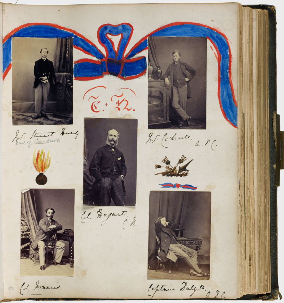 Untitled (Five Photographs, Clockwise From Upper Left, Sir Stuart Hardy; Mr. (?) A.p.c.; Captain Dalzell; Col. Merrit; Center, Col. Dysart(?) Cb))
