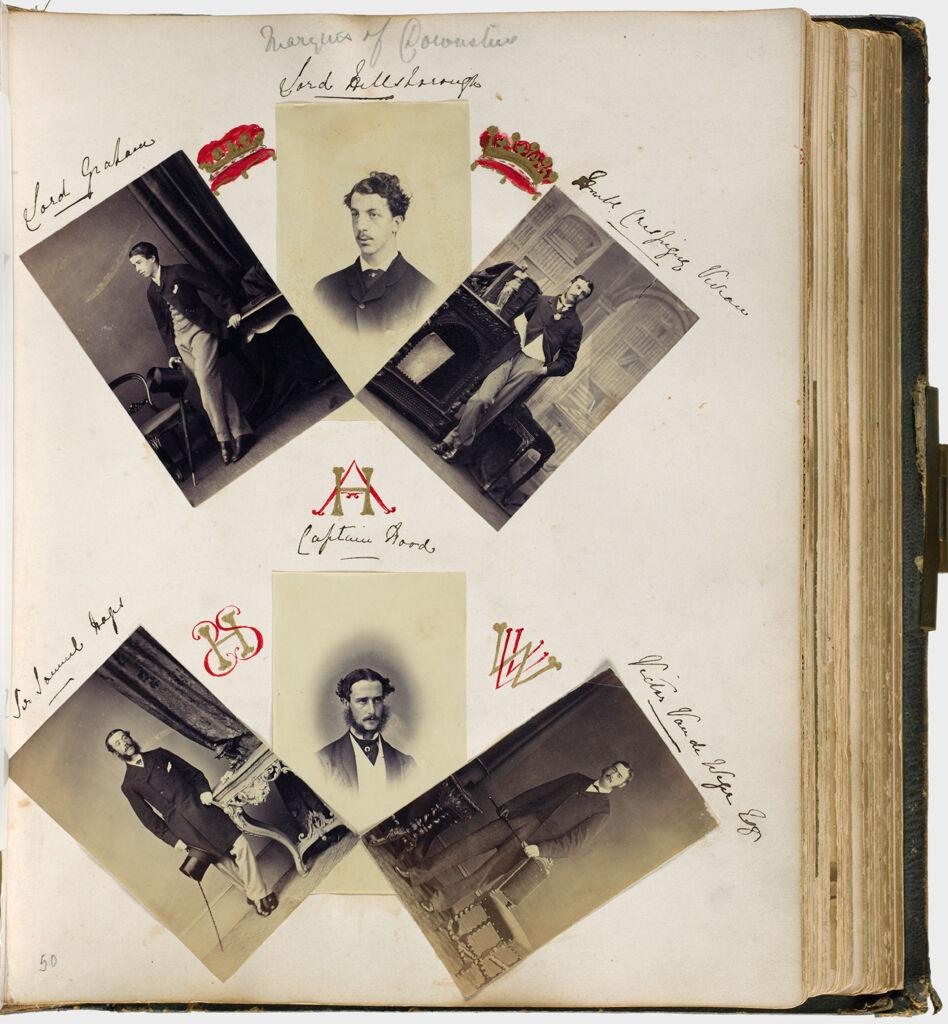 Untitled (Six Photographs, Clockwise From Upper Left, Lord Graham; Lord Hillsborough; Hon. Crespigny Vivian; Victor Van De Wise(?); Captain Hood; Sir Samuel Hope(?))
