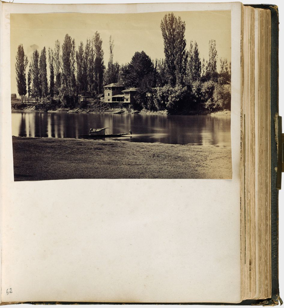 Untitled (River View With Boat In Foreground, Building On Far Bank, Possibly Kashmir, Jhelum River)