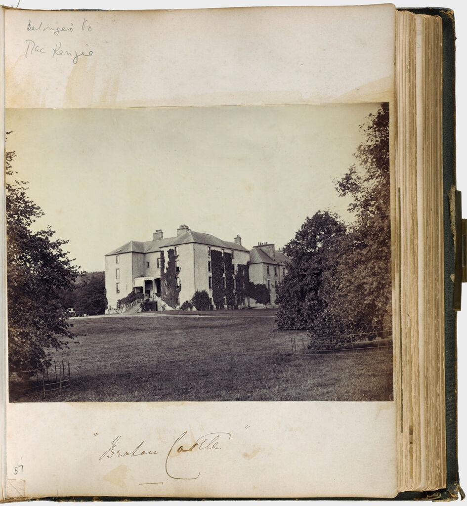 Untitled (Photograph Of Brahan Castle The Seat Of Stuart Mackenzie)