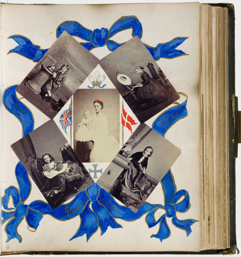 Untitled (Five Photographs, Clockwise From Upper Left, Peter; Violet; Charlie; Pinkie; Center, Alexandra, Princess Of Wales With Prince Albert Victor; Verso: Inscribed