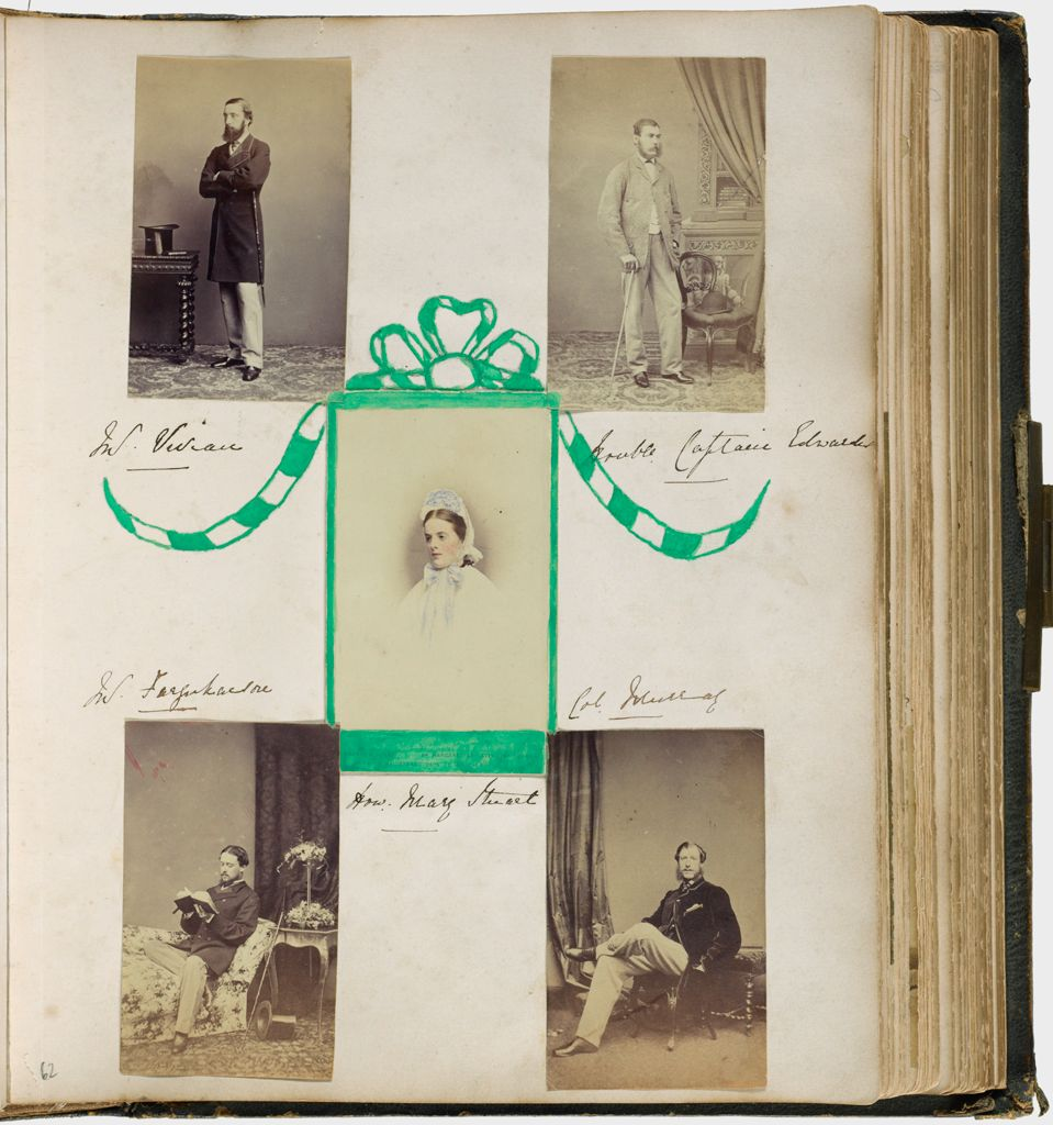 Untitled (Five Photographs, Clockwise From Upper Left, Mr. Vivian; Honorable Captain Edwards; Colonel Murray; Mr. Farquharson; Center, Honorable Mary Stuart)