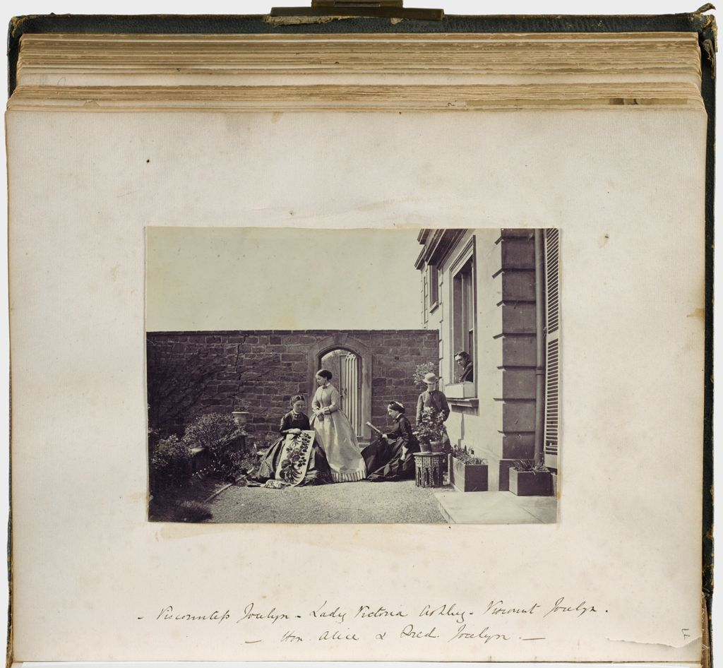 Untitled (Scene In Courtyard, Viscountess Jocelyn; Lady Victoria Ashley; Viscount Jocelyn; Hon. Alice & Fred Jocelyn)