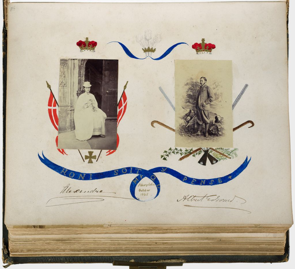 Untitled (Abergeldie, October 1865, Portraits Of Alexandra Of Denmark (1844-1925), Princess Of Wales [Later Queen Alexandra], And Albert Edward (1841-1910), Prince Of Wales [Later Edward Vii])