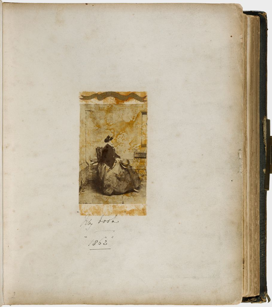 Untitled (Albumen Silver Print Of Lady Mary Filmer, Mounted To Page, P1982.359.7A Was Glued Over It)