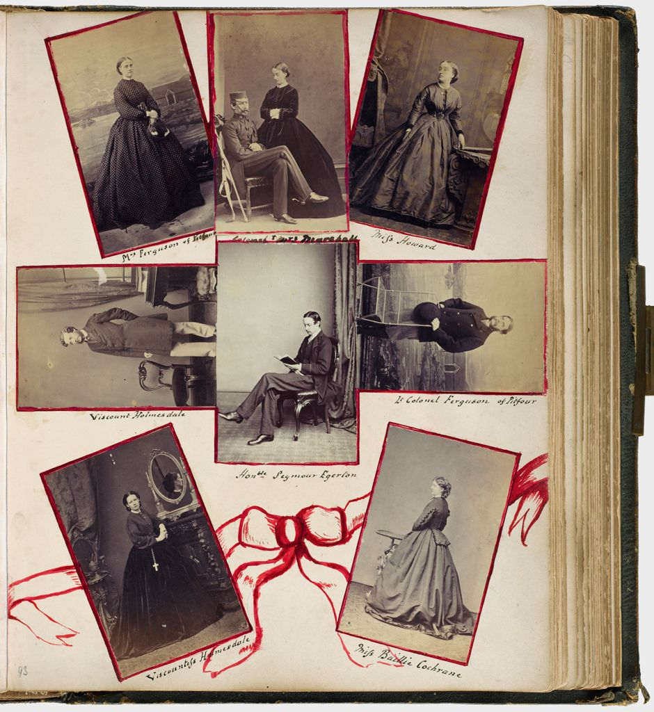Untitled (Eight Photographs, Clockwise From Upper Left, Mrs. Ferguson Of Pitfour; Colonel And Mrs. Marshall; Miss Howard; Lt. Colonel Ferguson Of Pitfour; Miss Baillie Cochrane; Viscountess Holmesdale; Viscount Holmesdale; Center, Hon. Seymour Egerton)