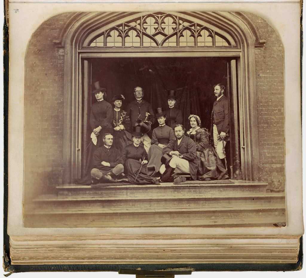 Untitled (Group Photograph At Cumberland Lodge, C. 1868, Sitters Include Lady Mary Filmer; The Prince And Princess Of Wales; Viscount And Viscountess Bridport; Verso: Three Photos; Prince Of Wales, George, Duke Of Cambridge; Duke Of Mecklenburgh)
