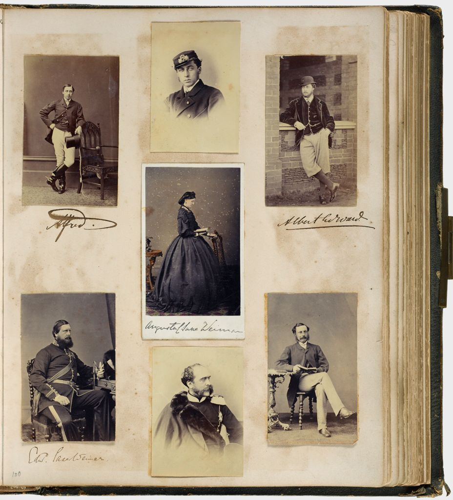 Untitled (Seven Photographs, Clockwise From Upper Left, Alfred (2 Photos); Albert Edward; Unidentifed Man, Seated Holding Book; Unidentified Man In Uniform; Edward Saxe-Weimar, Center, Augusta Of Saxe Weimar)