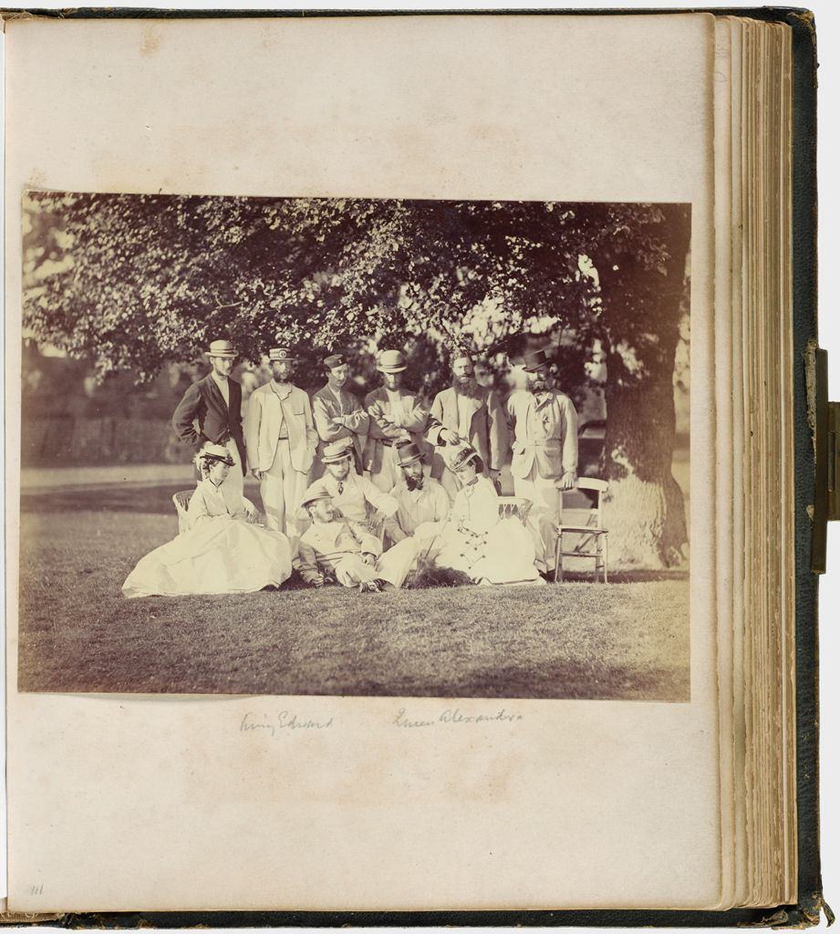 Untitled (Group Photograph Taken Out Of Doors With Prince Albert Edward, Princess Alexandra And Ten Unidentified People)