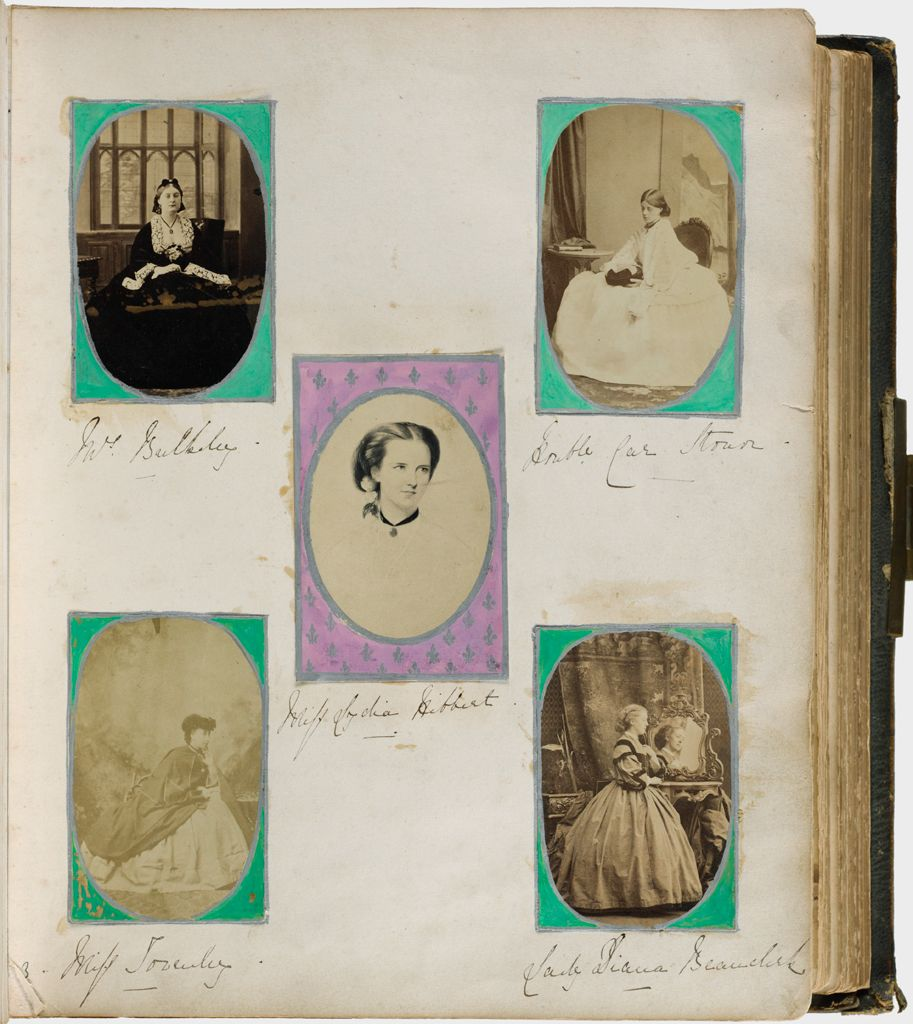 Untitled (Five Photographs Clockwise From Top Left, Mrs. Bulkley; Hon. Catherine Stonor; Lady Diana Beauclerk; Miss Towneley; Center, Miss Lydia Hibbert)